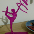 Download free 3D printing files rhythmic gymnastics silhouette, cyrus