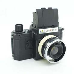 Download free STL file Diana Lens adaptor for Konstruktor camera • 3D printer object, JimmyPhua