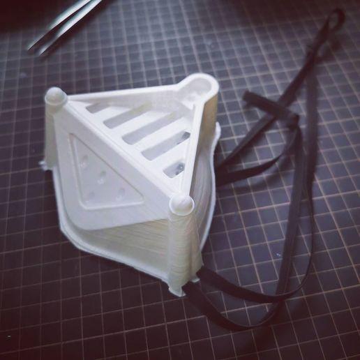 Download 3D printer model Darth Vader face mask, JimmyPhua