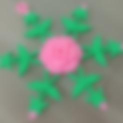 Download free 3D printer designs Rose Snowflake, Vexelius