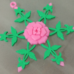 Download free 3D printer designs Rose Snowflake, Vexelius