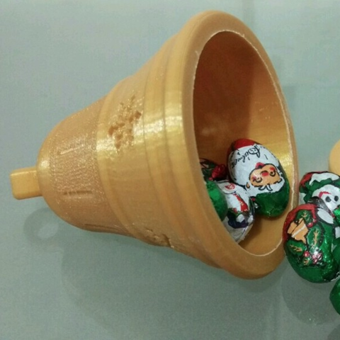 Free 3D print files Christmas Bell ornament (with secret compartment), Vexelius