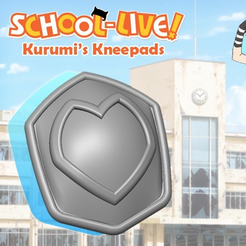 Free 3D file Ebisuzawa Kurumi's kneepads, Vexelius