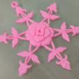 Free Rose Snowflake STL file, Vexelius