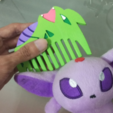 Download free STL files Tyranitar Comb, Vexelius