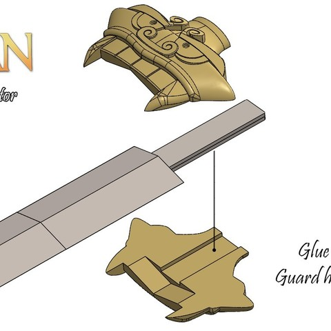 BladeAssm3.jpg Download free STL file Mulan's Sword • 3D printing model, Vexelius