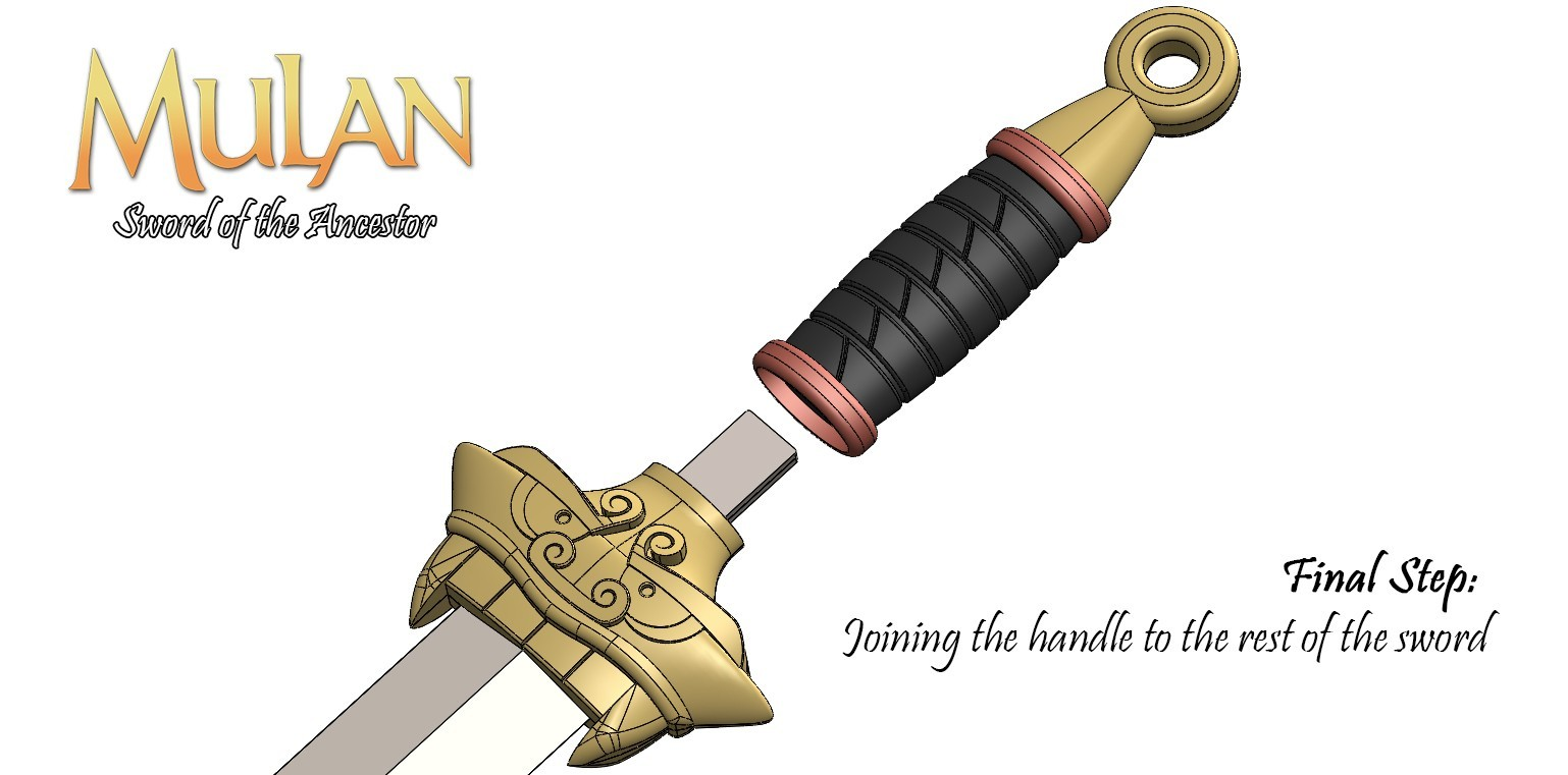 BladeAssm5.jpg Download free STL file Mulan's Sword • 3D printing model, Vexelius