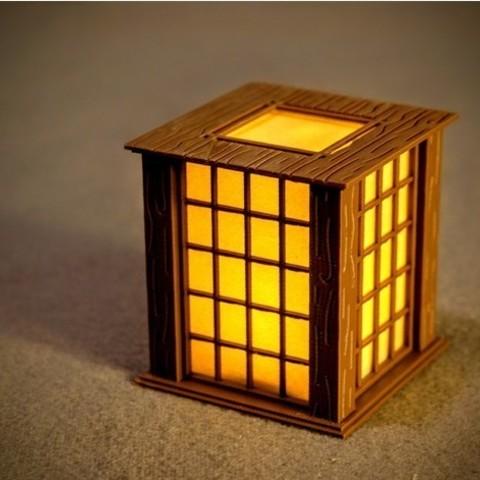 Descargar modelo 3D gratis Adorno de Navidad de linterna de pared de papel japonés, 3DSage