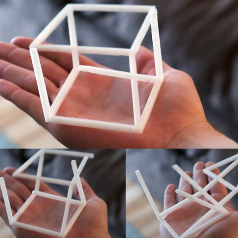 Download free 3D print files Anamorphic Optical Illusion - 3D Cube, 3DSage