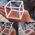 Télécharger fichier imprimante 3D gratuit Illusion d'optique anamorphique - Cube en 3D, 3DSage