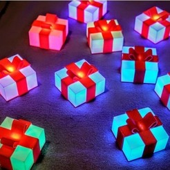 Free 3d printer model Glowing Gift Box, 3DSage