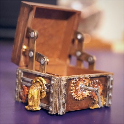 Download free 3D printing files Steam Punk Hinge Box, 3DSage