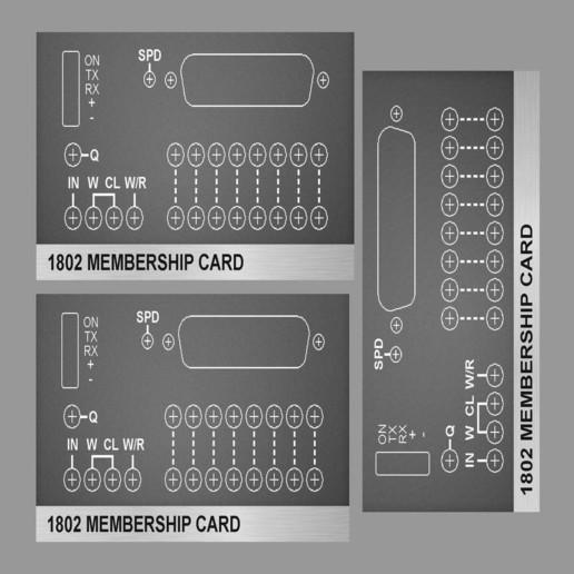 print_5x7.jpg Télécharger fichier STL gratuit 1802 Carte de membre Altair 8800 étui pour carte de membre • Objet pour impression 3D, 3DSage