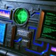 Imprimir en 3D gratis Tenedor del teléfono de la computadora de la ciencia ficción, 3DSage