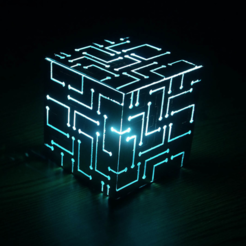 Capture d'écran 2016-11-29 à 16.23.13.png Download free STL file Alien Cube With Lights • Object to 3D print, 3DSage
