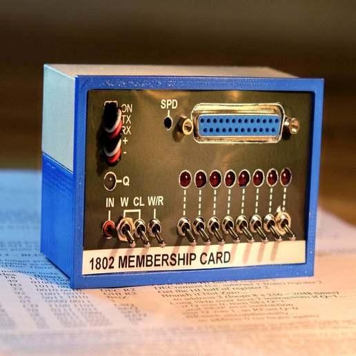 Télécharger plan imprimante 3D gatuit 1802 Carte de membre Altair 8800 étui pour carte de membre, 3DSage