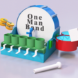 Free 3D file 3D Printed One Man Band Musical Instrument, 3DSage