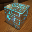Free STL Alien Cube With Lights, 3DSage