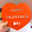 Download free 3D printing designs Valentine's Day Hearts Connect, 3DSage