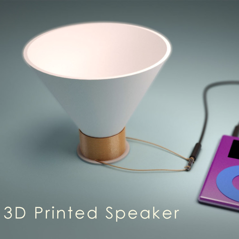 Download free STL file 3D Printed Speaker • Model to 3D print, 3DSage