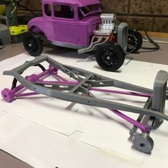 std chassis assembly high rear spring.jpg Download STL file 1932 Ford chassis custom • 3D print object, macone1