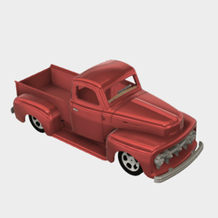 3d printer model Ford F1 1952 Custom Pickup, macone1