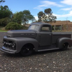 Ford F1 1952 Custom Pickup 3D model, macone1