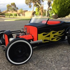 3d model  Hot Rod, macone1
