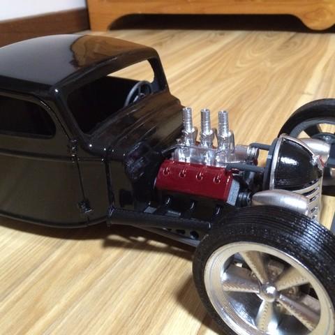 IMG_0547.JPG Download STL file Ratrod Pickup • 3D printing template, macone1