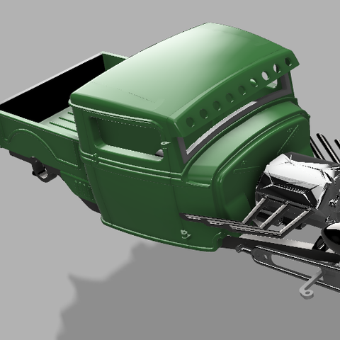 3JSPU v68render1.png Download STL file 34' Ford Pickup Hot Rod • 3D printing object, macone1
