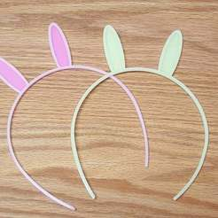 Download free 3D printing files Bunny Ears Hair Band, bLiTzJoN