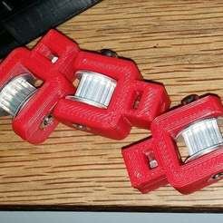 Download free 3D printer designs Idler Pulley / Belt Tensioner - Monoprice Mini Delta (MPMD), bLiTzJoN