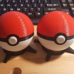 Download free 3D printer model Pokeball, with magnetic clasp (alternate), bLiTzJoN