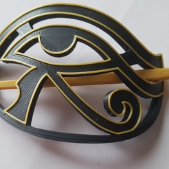 20200823_131329.jpg Download STL file Eye Horus boche for hair • 3D printable design, Gaizka