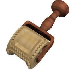 raviolis cuadrado.jpg Télécharger fichier STL Moule à ravioli carré, 52mm de pâte italienne • Objet pour impression 3D, Gaizka