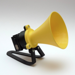 "Free STL file ""Megaphone"" MP3 player, mschiller"