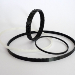 Download free 3D printing templates Customizable Flexible Tooth Belt, mschiller