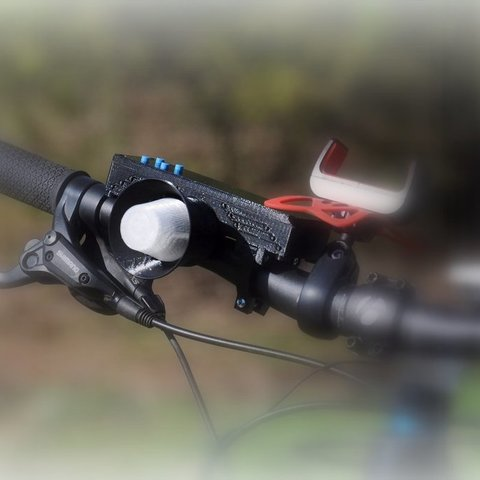Download free 3D printing models MP3 Bike Horn, mschiller