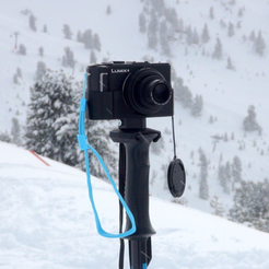 Download free 3D printer templates Ski pole camera tripod adapter, mschiller