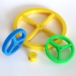 Download free STL file Customizable Simple Pulley/Gear • 3D printable template, mschiller