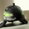 Download free 3D printing designs Gopro helmet attachment (cygnus), mschiller