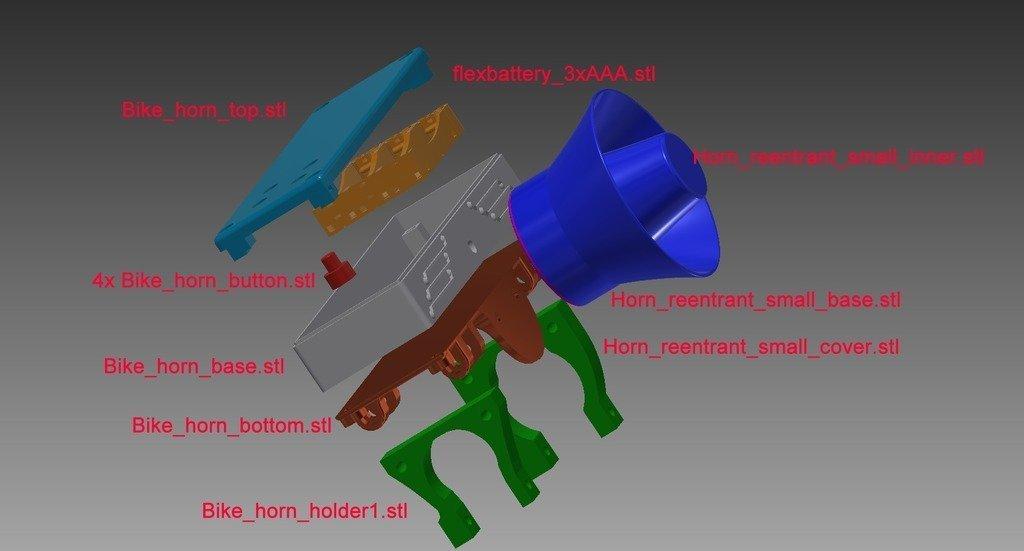 207b8fdd073fe6827bbe509a4c287b02_display_large.jpg Télécharger fichier STL gratuit Klaxon MP3 pour vélo • Modèle pour impression 3D, mschiller