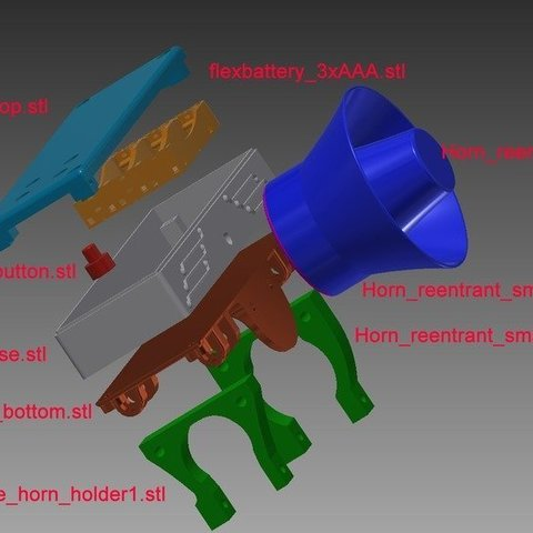 207b8fdd073fe6827bbe509a4c287b02_display_large.jpg Download free STL file MP3 Bike Horn • 3D printable object, mschiller