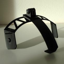 Modèle 3D gratuit Attache pour casque Gopro (cygnus), mschiller