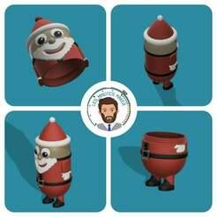 Miniature_light.jpg Télécharger fichier STL gratuit Décoration de Noël : Père Noël • Modèle imprimable en 3D, Les-Minutes-Maker