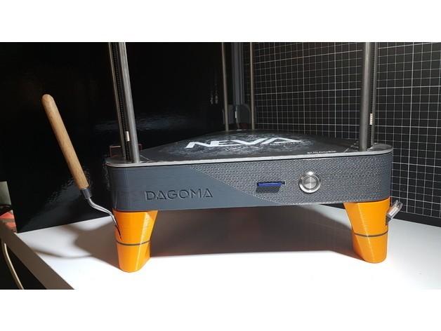 Photo ensemble.jpg Télécharger fichier STL gratuit PIEDS NEVA avec logement pour spatule et adaptateur USB • Plan à imprimer en 3D, Les-Minutes-Maker