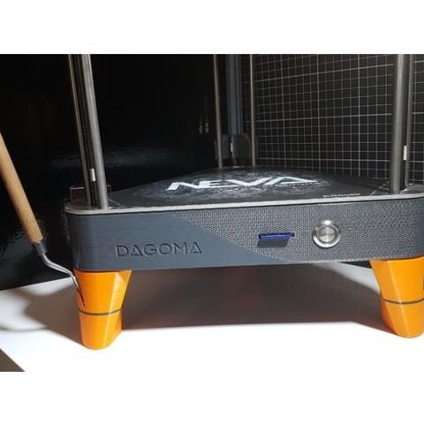 Télécharger modèle 3D gratuit PIEDS NEVA avec logement pour spatule et adaptateur USB, JBILOEB