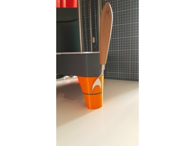 Pied spatule.jpg Télécharger fichier STL gratuit PIEDS NEVA avec logement pour spatule et adaptateur USB • Plan à imprimer en 3D, Les-Minutes-Maker