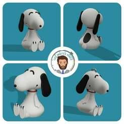 miniature_light.jpg Télécharger fichier STL gratuit christmas ornament : Snoopy • Design pour impression 3D, Les-Minutes-Maker