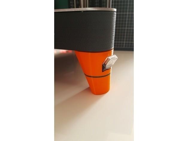 Pied USB.jpg Télécharger fichier STL gratuit PIEDS NEVA avec logement pour spatule et adaptateur USB • Plan à imprimer en 3D, Les-Minutes-Maker